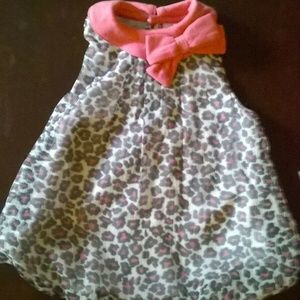 Baby Essentials 6M Pink Cougar Bubble Romper NWT
